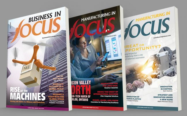 Three unique business to business magazine cover designs