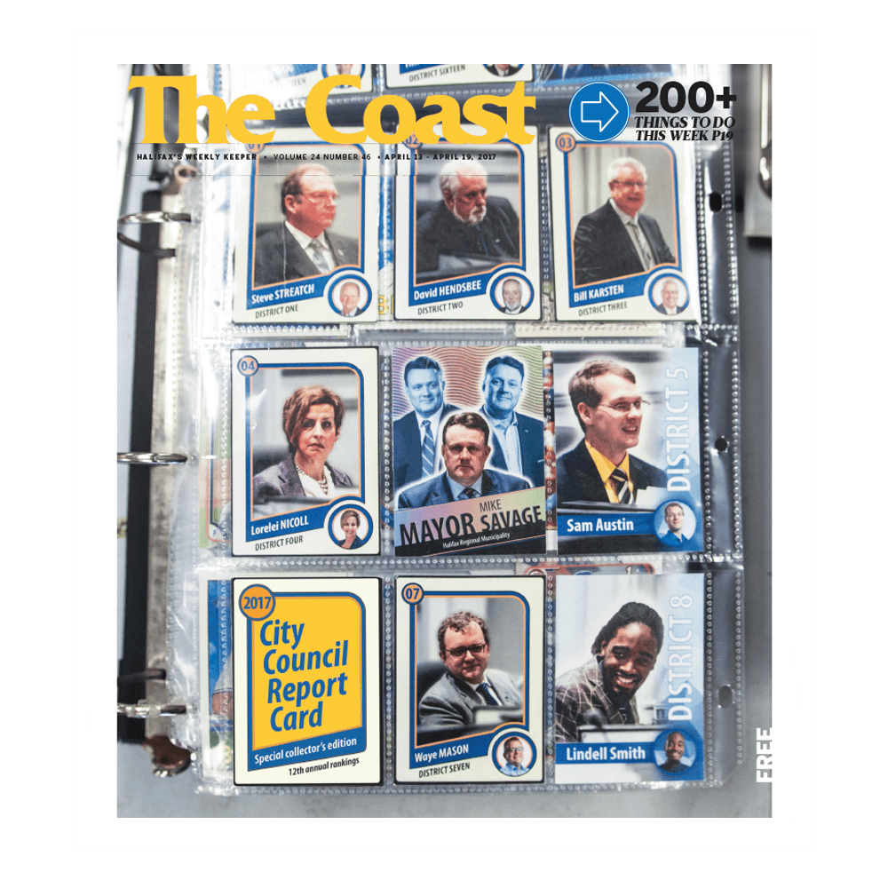 Newspaper cover design with unique card designs uniquely made for each politician they feature
