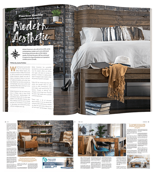 Double Page Spread Magazine Layout feature interior design photography and title typography