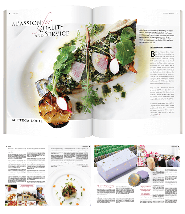 Double Page Spread Magazine Layout feature food photography and title typography