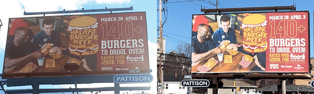 Halifax Burger Week billboard design